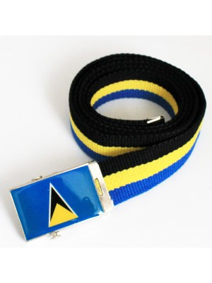 Men's Canvas Belt - St. Lucia Flag