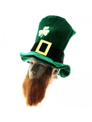 St Patrick Style Top Hat With Beard