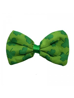 St Patrick's Day Green Bow Tie - Shamrock Design