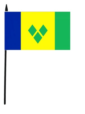 """Saint Vincent and the Grenadines Hand Flag - 12"""" x 18"""""""