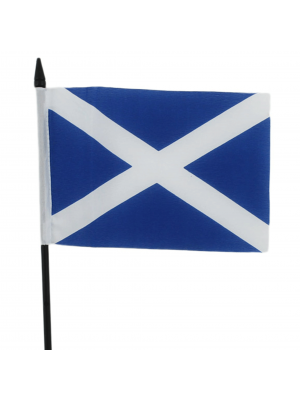 "St. Andrew's Cross Scotland  Hand Flag - 6"" x 4"""