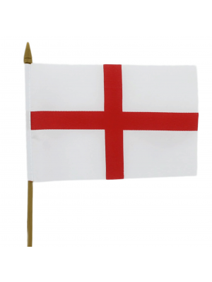 "St. George's Cross Hand Flag Small - 6"" x 4"""
