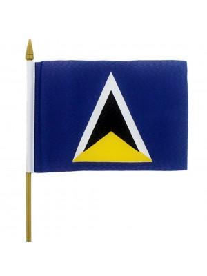 """St. Lucia Hand Flag - 6"""" x 4"""""""
