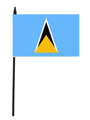 "Saint Lucia Hand Flag - 12"" x 18"""