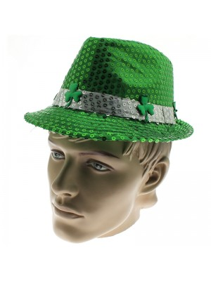 St. Patrick's Day Sequin Hat