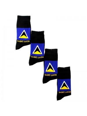 Rasta Design Socks - St. Lucia Flag