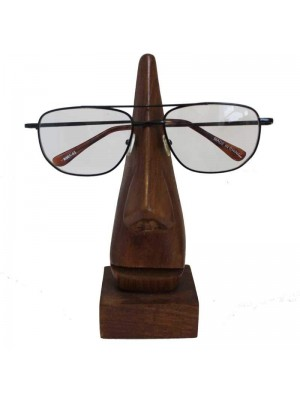 Wholesale Wooden Nose Spectacle Holder (Height Approx: 6.5'')