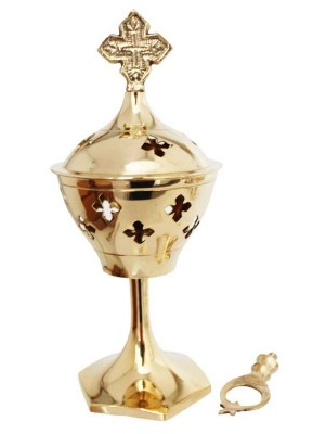 Wholesale Brass Burner With 2 Different Designs Cross & star 6.5 inch
