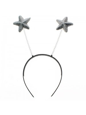 Star Shaped Deely Boppers - Silver