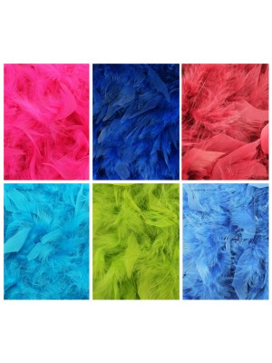 Starter Pack Deluxe Plain Feather Boas Assortment 200cm