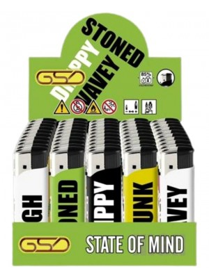 """Wholesale GSD Electronic """"State Of Mind"""" Design Refillable Lighters"""