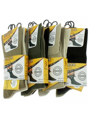Stay-up Men's Non Elastic Diabetic Socks - Assorted Colours