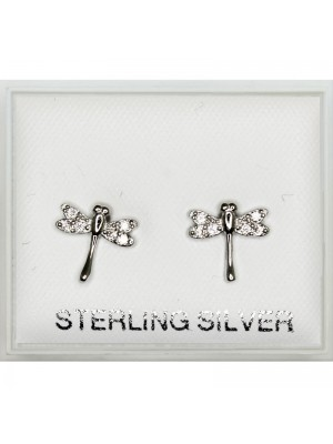 Sterling Silver Butterfly Studs (4mm)