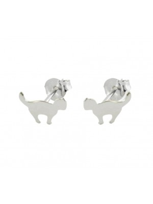 Wholesale Sterling Silver Cat Design Studs