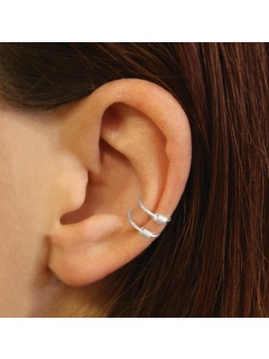 Wholesale Sterling Silver Double Spring Ear Cuff