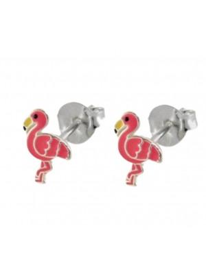 Wholesale Sterling Silver Flamingo Design Stud Earrings