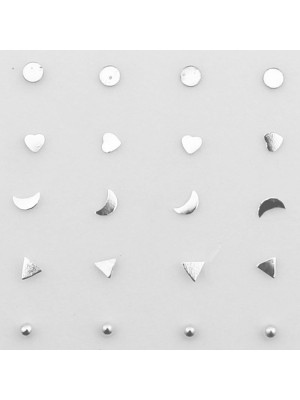 Sterling Silver Nose Studs - Assorted Shape Designs