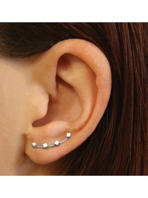 Wholesale Sterling Silver Pair Of Cubes Ear Crawlers