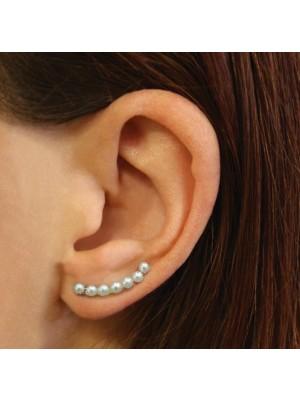 Wholesale Sterling Silver Pair Of Pearl Ear Crawler