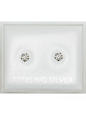 Sterling Silver Round Studs - 3mm