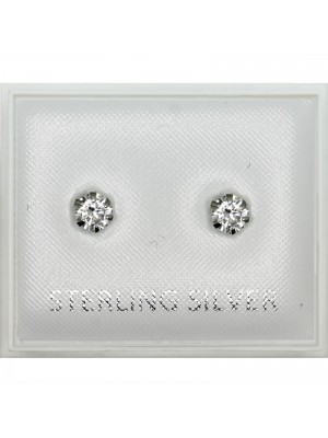 Sterling Silver Round Studs - 4mm