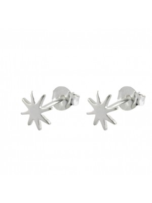 Wholesale Sterling Silver Starburst Design Studs