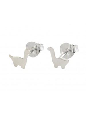 Sterling Silver Stegosaurus Design Studs
