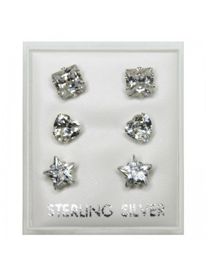 Sterling Silver Studs - Assorted Designs