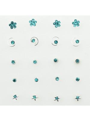 Sterling Silver Blue Nose Wires Set - Asst. Designs