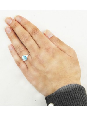 Coloured Stone Silver Rings - Assorted Colours