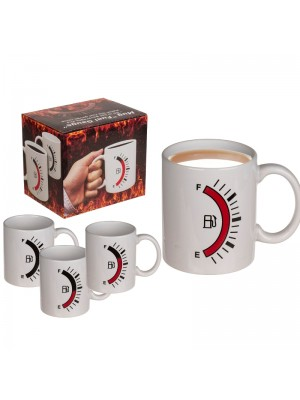 Wholesale Stoneware Mug Fuel Gauge Design