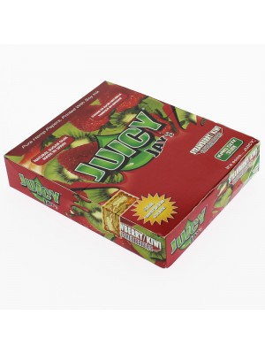 Juicy Jay's King Size Slim Rolling Paper - Strawberry/Kiwi