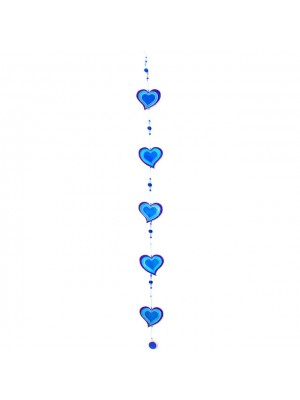 String of Blue Hearts - Suncatcher