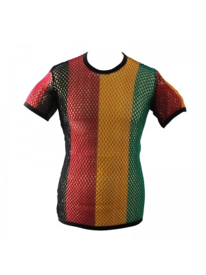 String T-Shirts - Rasta Colours (Assorted Sizes)
