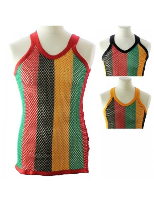 String Vest - Rasta Colours (Assorted Colours)