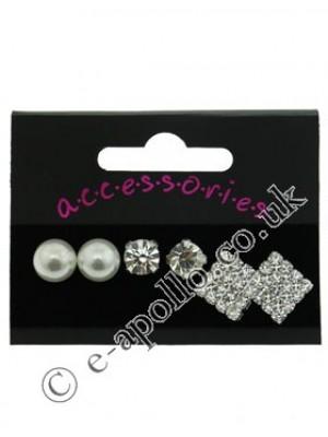 Sterling Silver Stud Earrings Assortment
