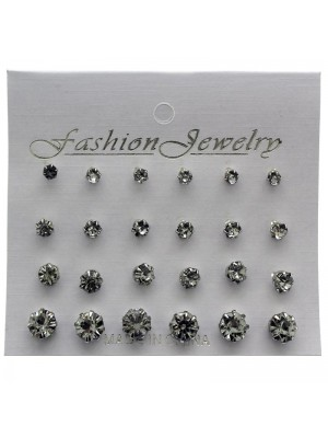 Wholesale Fashion Jewellery - Assorted Sized Diamond Stud Earrings