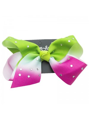 Studded Two Tone Fashion Bows - 15cm