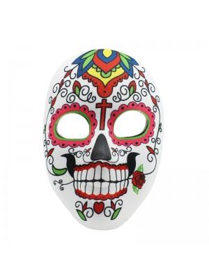 Sugar Skull Mask - Floral Print