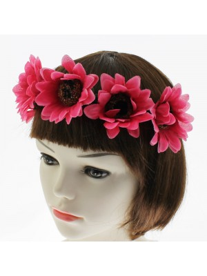 Sunflower Design Headbands - Pink