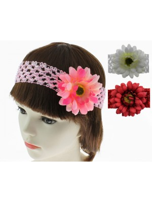 Sunflower Flower Design Headbands - Assorted Colours