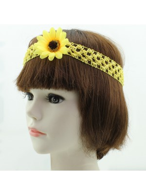 Sunflower on Elastic Band - Assorted Colours