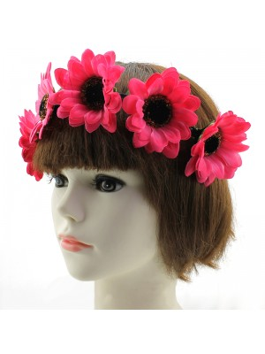 Sunflower on Elastic Headband - Assorted Colours
