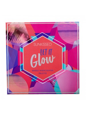 Wholesale Sunkissed Let It Glow Baked Highlighter Palette