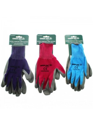 Wholesale Super Comfort Grip Gloves - Assorted Colours (Medium)