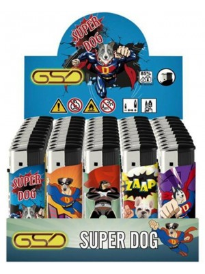 """Wholesale GSD Electronic """"Super Dog"""" Design Refillable Lighters"""