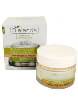 Wholesale Bielenda Super Power Mezo Cream Day/Night face cream with Mandelic Acid + Lactobionic acid 50ml