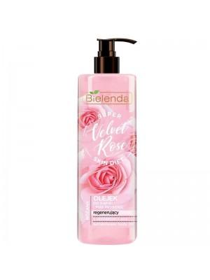 Bielenda Super Skin Diet Velvet Rose Regenerating Bath & Shower Oil Aloe 400 ml