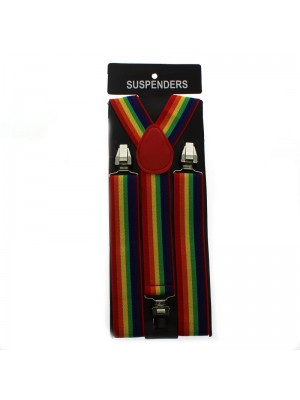 Suspender Braces LGBTQ Flag Print 35mm