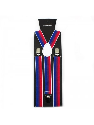 Suspender Braces Blue Red White 35mm